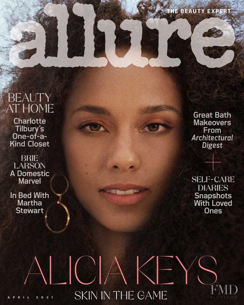Alicia Keys featured on the Allure cover from April 2021