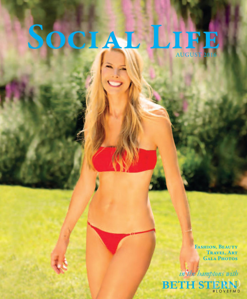 Beth Ostrosky featured on the Social Life cover from August 2016
