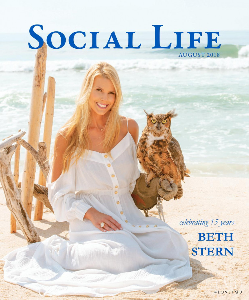 Beth Ostrosky featured on the Social Life cover from August 2018