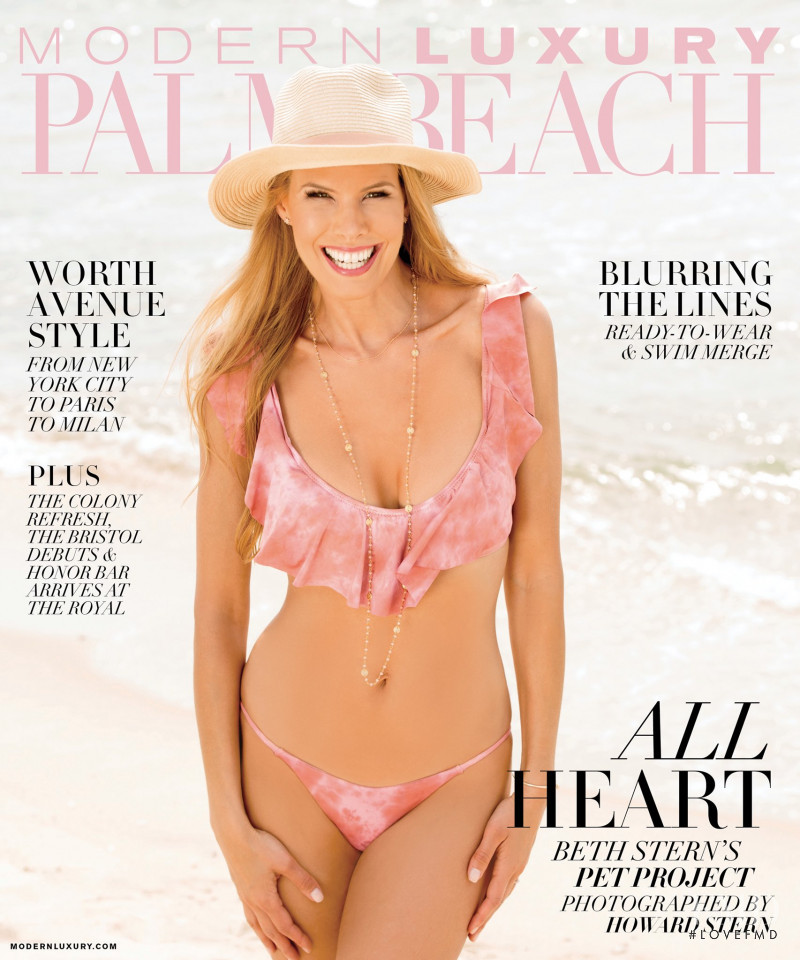 Beth Ostrosky featured on the Modern Luxury Palm Beach cover from February 2018