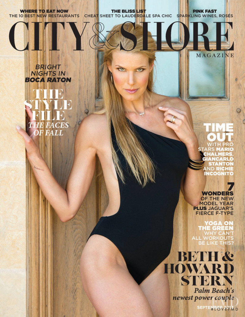 Beth Ostrosky featured on the City & Shore Magazine cover from September 2013