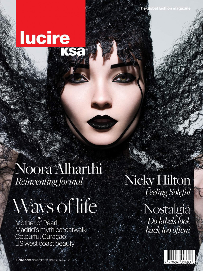 Elena Sartison featured on the Lucire KSA cover from November 2019