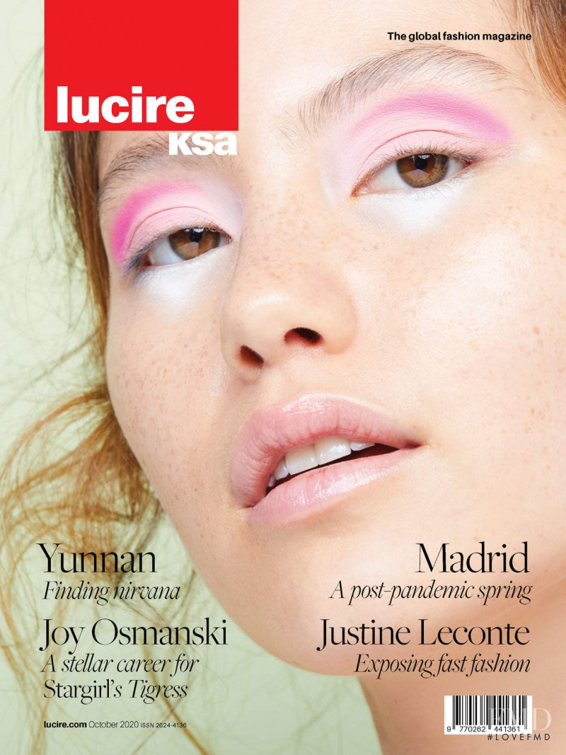 Nicole Tiedemann featured on the Lucire KSA cover from October 2020
