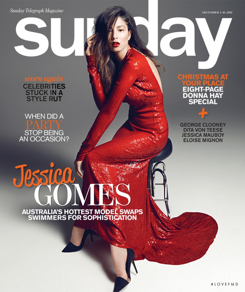 Jessica Gomes featured on the The Sunday Telegraph Magazine cover from December 2011
