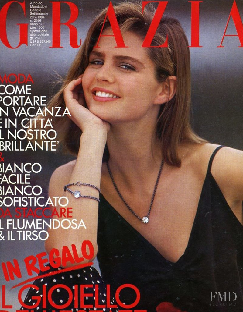 Dawn Gallagher featured on the Grazia Italy cover from July 1984