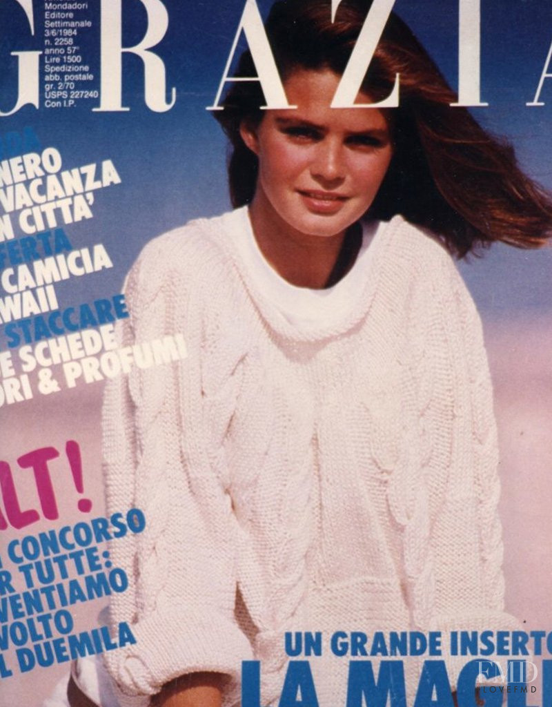 Dawn Gallagher featured on the Grazia Italy cover from June 1984