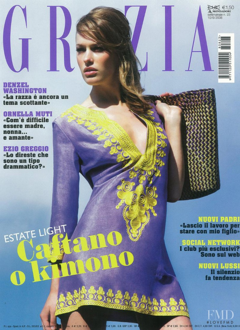 Zane Shalme featured on the Grazia Italy cover from June 2008
