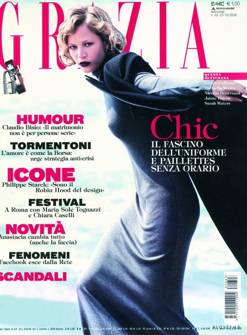 Tatiana Shamratova featured on the Grazia Italy cover from October 2008