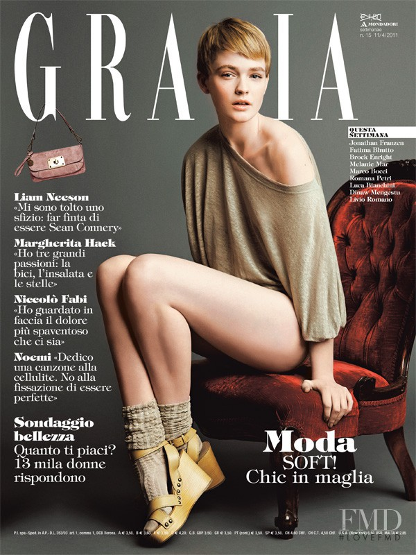 Abby Clee featured on the Grazia Italy cover from April 2011