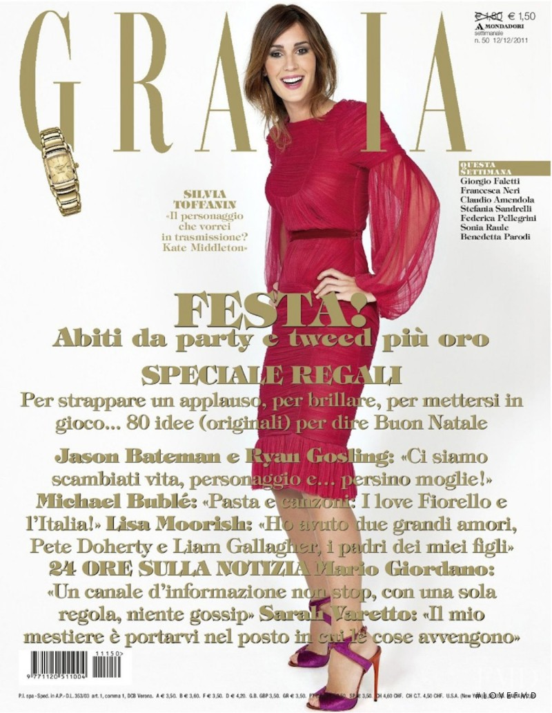 Silvia Toffanin featured on the Grazia Italy cover from December 2011