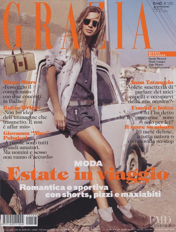 Kriss Evtikhievea featured on the Grazia Italy cover from July 2011