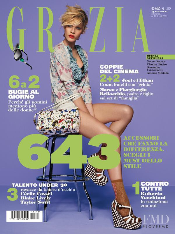 Christina Gottschalk featured on the Grazia Italy cover from March 2011