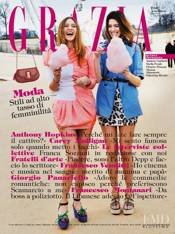 featured on the Grazia Italy cover from March 2011