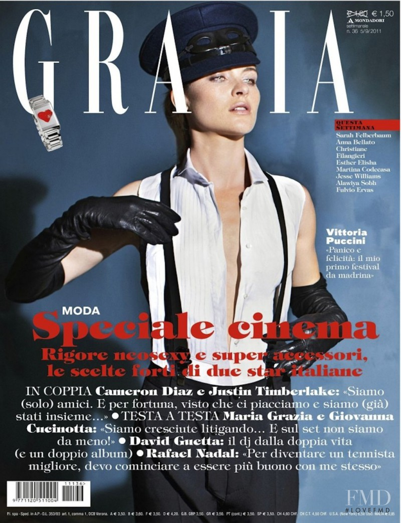 Vittoria Puccini featured on the Grazia Italy cover from September 2011