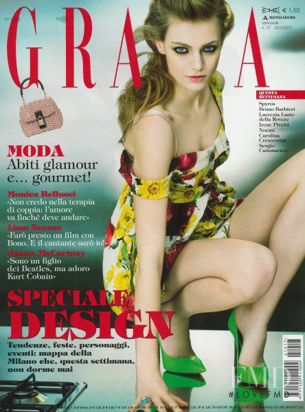Zuzana Kopuncova featured on the Grazia Italy cover from April 2012