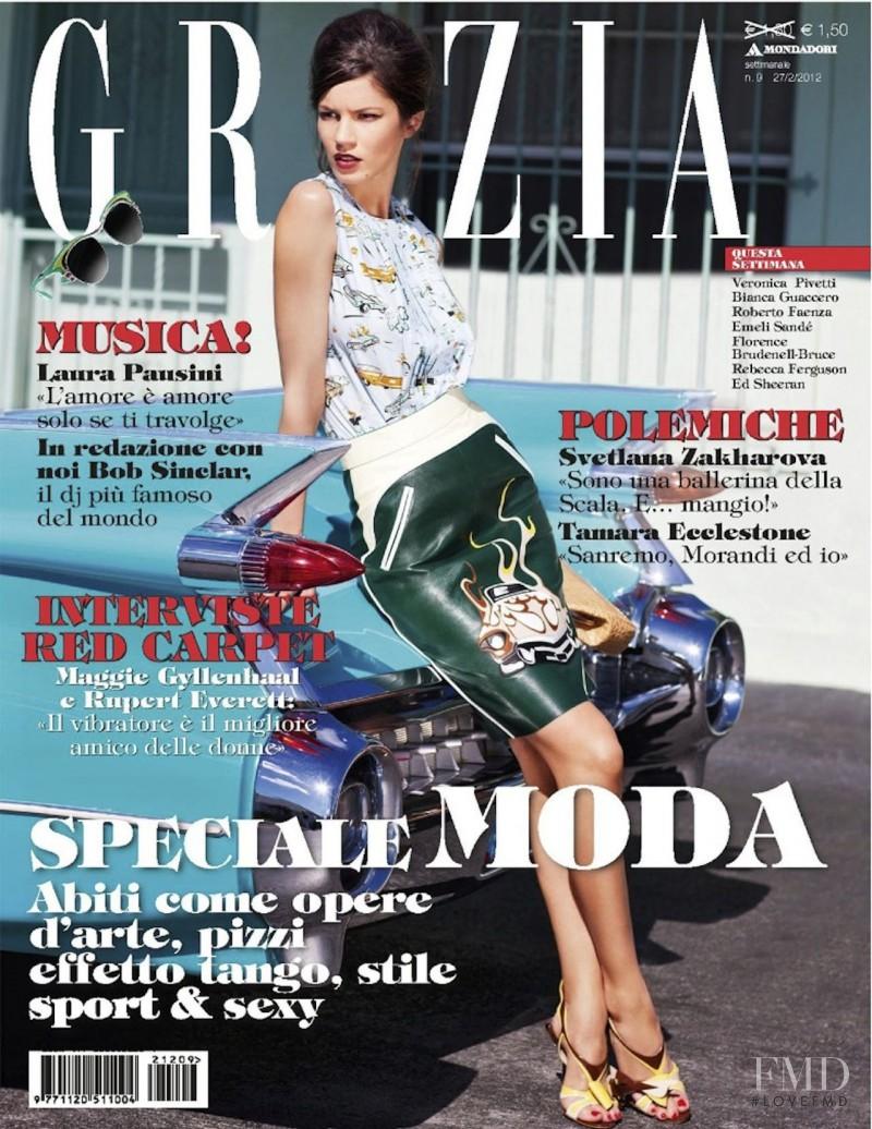 Danijela Dimitrovska featured on the Grazia Italy cover from February 2012