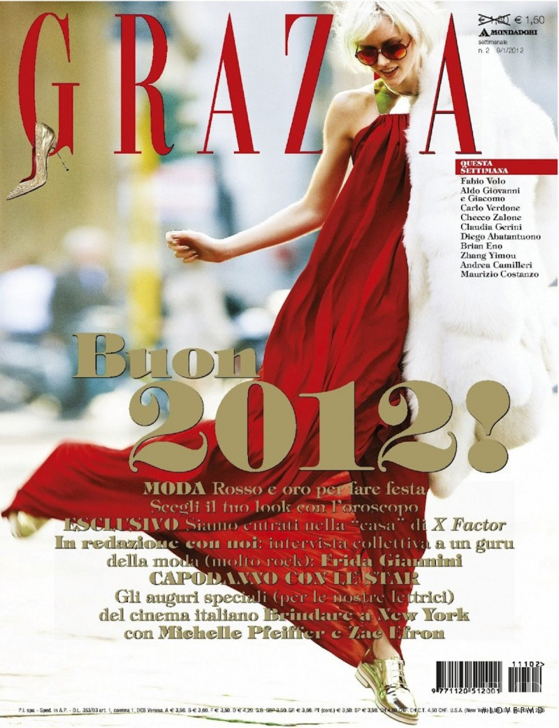 Ali Whitfield featured on the Grazia Italy cover from January 2012