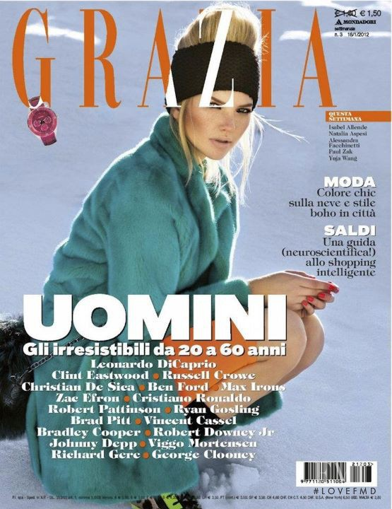 Ellen Danes featured on the Grazia Italy cover from January 2012