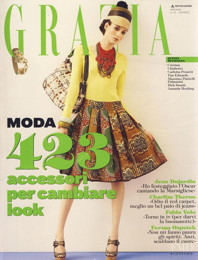 Hanna Fridh featured on the Grazia Italy cover from March 2012