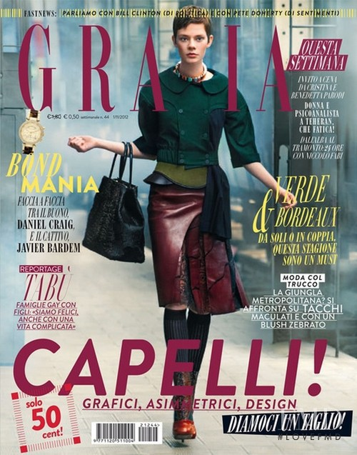 Anna Pichler featured on the Grazia Italy cover from November 2012