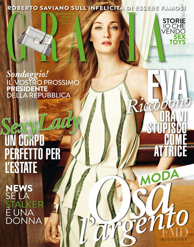 Eva Riccobono featured on the Grazia Italy cover from April 2013
