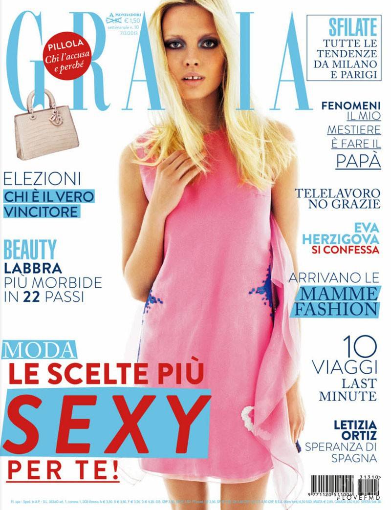 Natalia Siodmiak featured on the Grazia Italy cover from March 2013