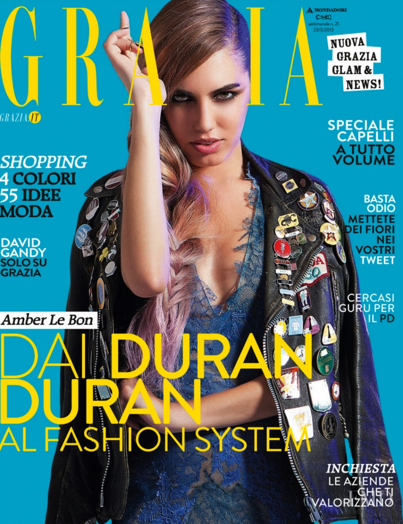 Amber Le Bon featured on the Grazia Italy cover from May 2013
