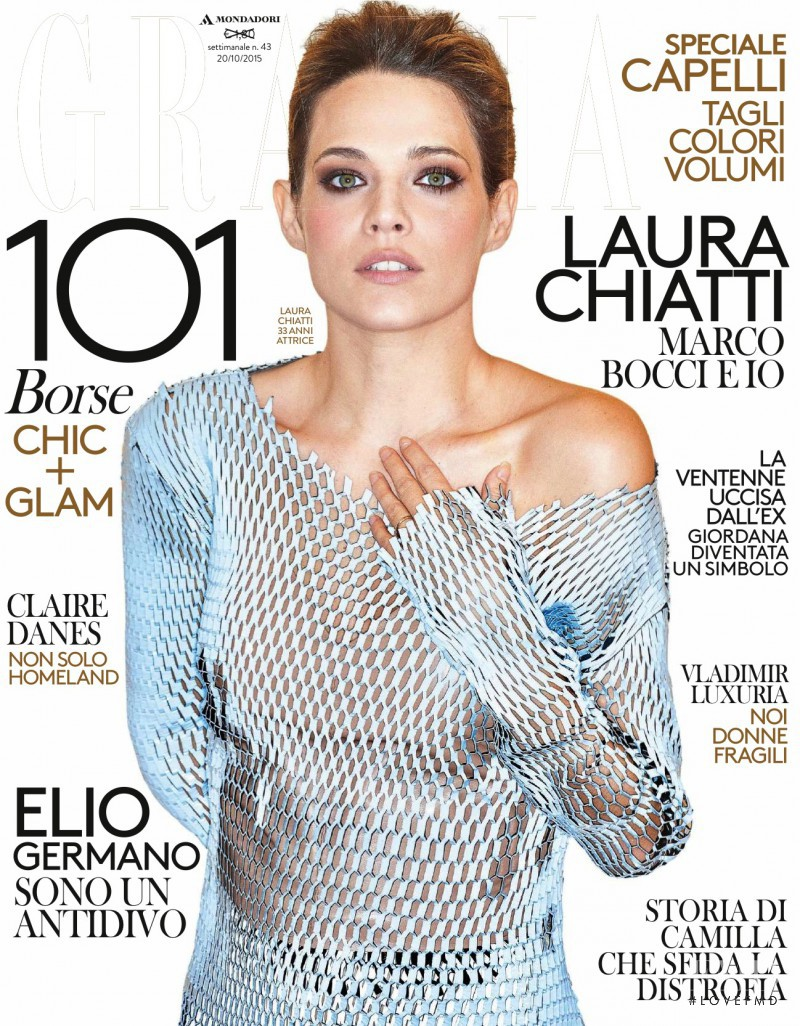 featured on the Grazia Italy cover from October 2015