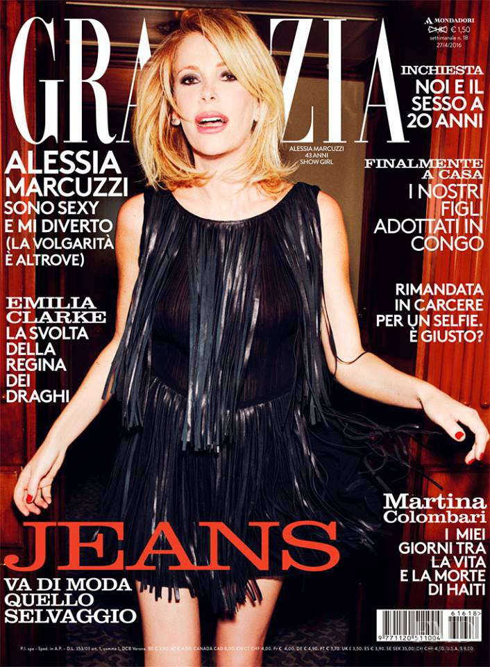 featured on the Grazia Italy cover from April 2016