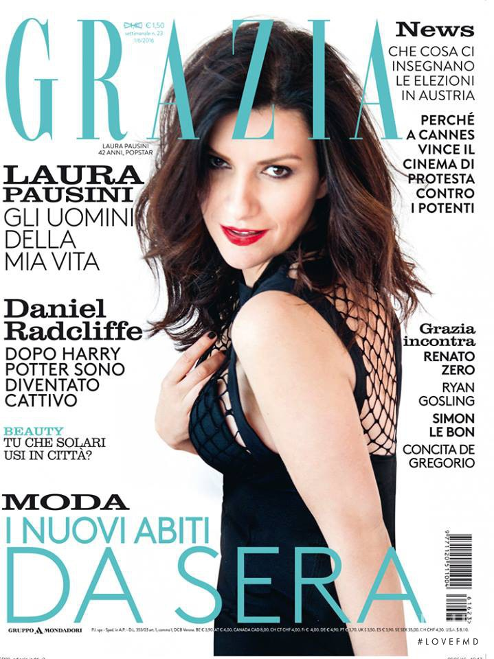 featured on the Grazia Italy cover from June 2016