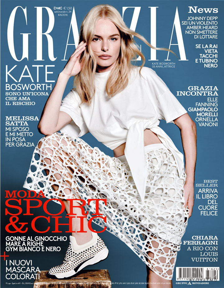 Kate Bosworth featured on the Grazia Italy cover from June 2016