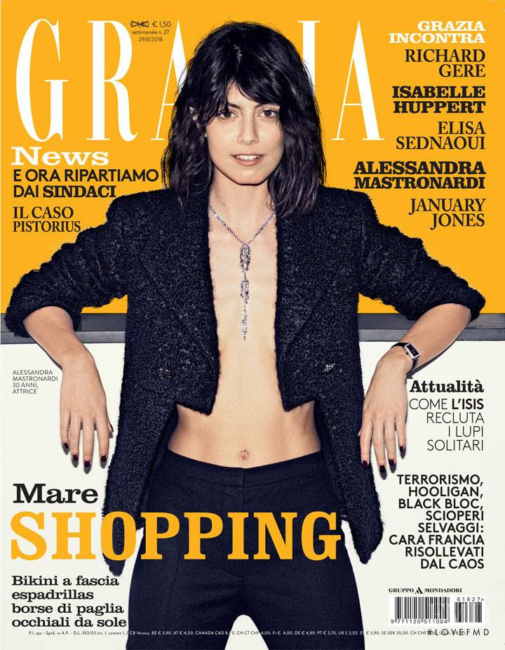 Alessandra Mastronardi featured on the Grazia Italy cover from June 2016