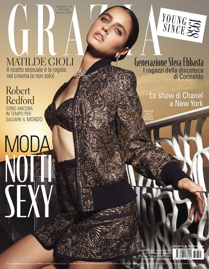 Matilde Gioli featured on the Grazia Italy cover from December 2018