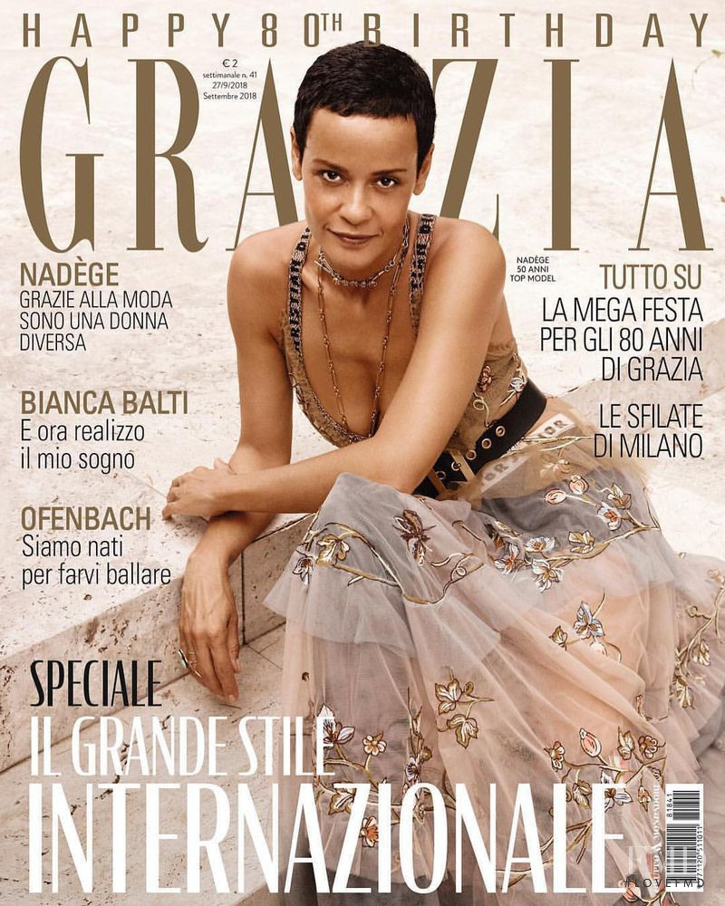 featured on the Grazia Italy cover from October 2018