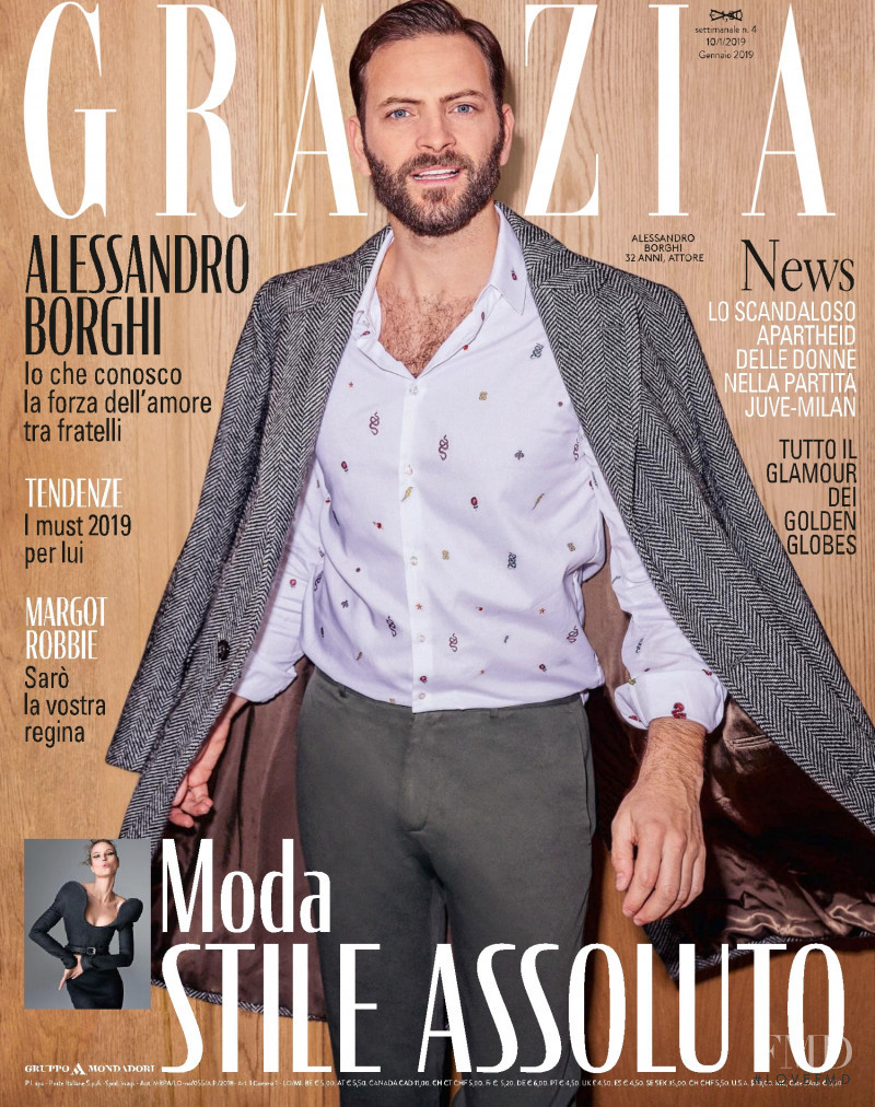 featured on the Grazia Italy cover from January 2019