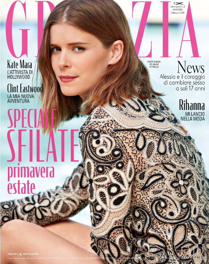 Kate Mara featured on the Grazia Italy cover from January 2019