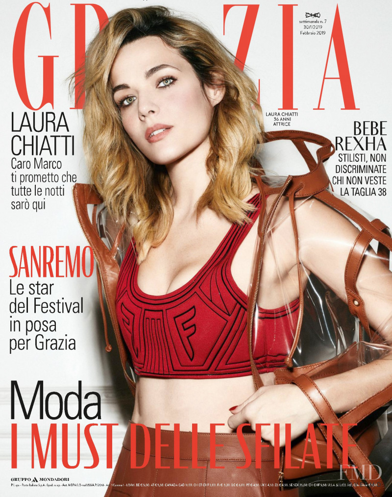 Laura Chiatti featured on the Grazia Italy cover from January 2019