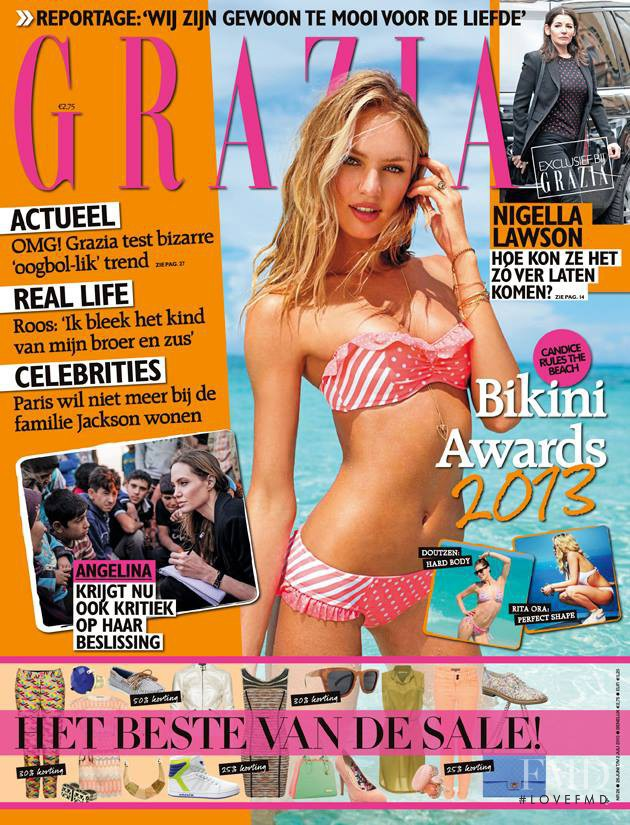 Candice Swanepoel featured on the Grazia Netherlands cover from June 2013