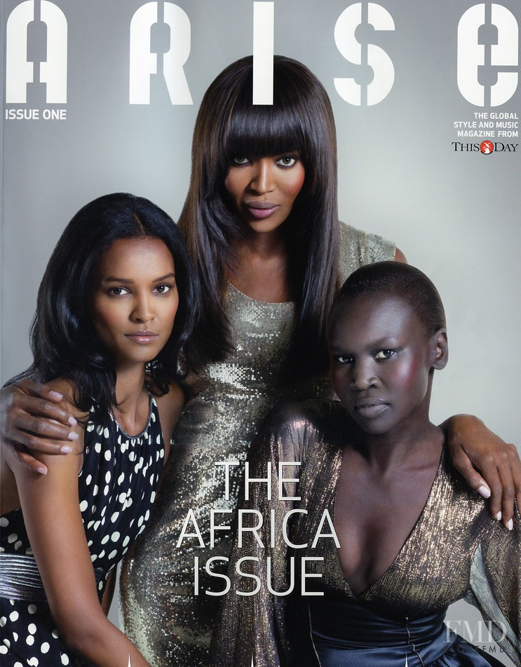 Alek Wek, Naomi Campbell, Liya Kebede featured on the Arise cover from September 2008