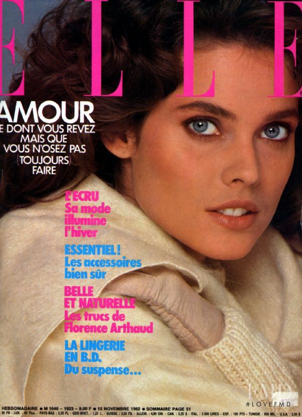 Carol Alt featured on the Elle France cover from November 1982
