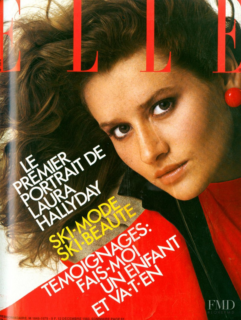 Isabelle Townsend featured on the Elle France cover from December 1983