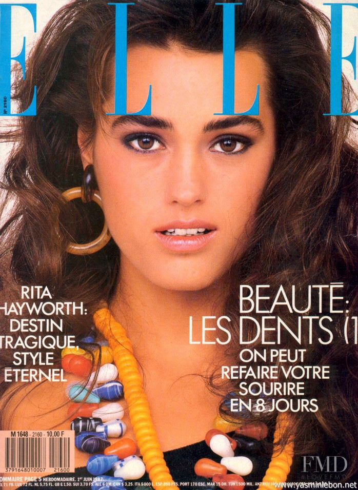 Yasmin Le Bon featured on the Elle France cover from June 1987
