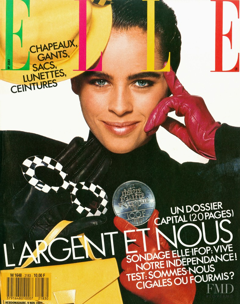 Patty Sylvia featured on the Elle France cover from November 1987