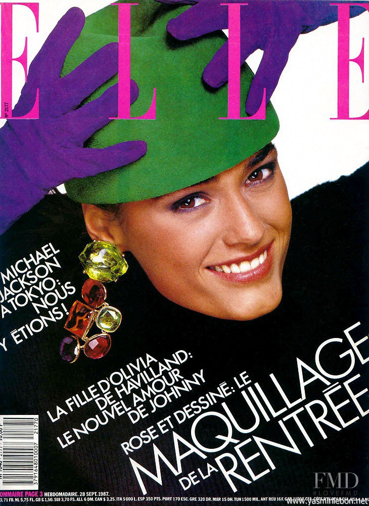 Yasmin Le Bon featured on the Elle France cover from September 1987
