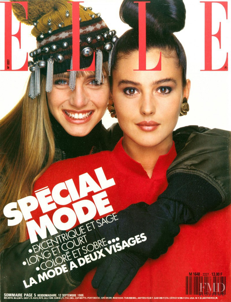Roberta Chirko featured on the Elle France cover from September 1988