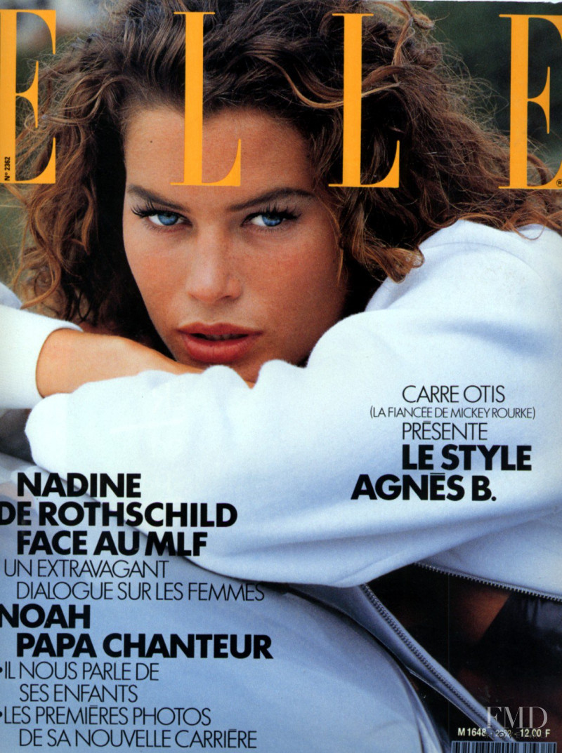 Carre Otis featured on the Elle France cover from May 1989