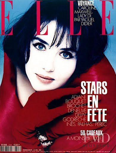 Isabelle Adjani featured on the Elle France cover from December 1991
