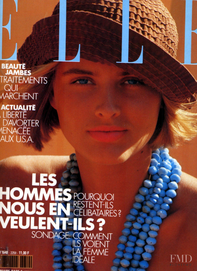 Cathy Fedoruk featured on the Elle France cover from July 1991