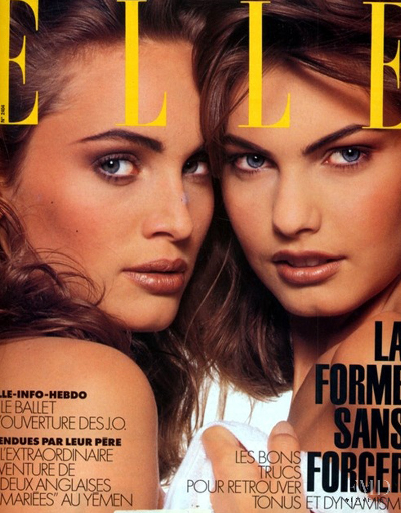 Gretha Cavazzoni featured on the Elle France cover from February 1992