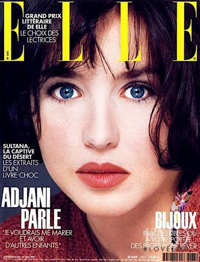 Isabelle Adjani featured on the Elle France cover from May 1993